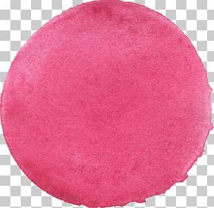 Watercolor Painting Pink Magenta PNG