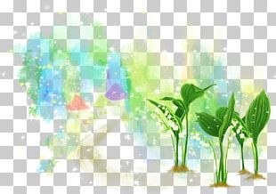 Green Watercolor Painting Plant Illustration PNG
