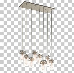 Pendant Light Light Fixture Brushed Metal Incandescent Light Bulb PNG