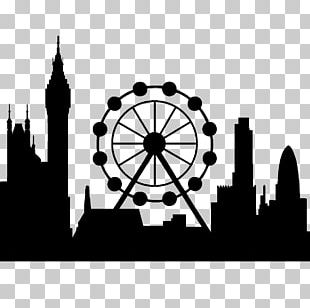 London Eye Wall Decal Sticker Skyline PNG