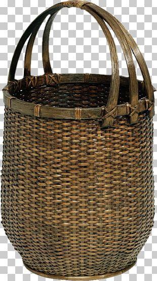 Basket Rattan Bamboo PNG