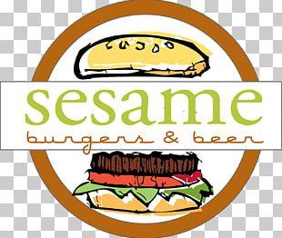 Hamburger Veggie Burger Fast Food Sesame Burgers & Beer PNG