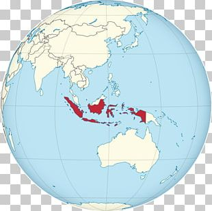 Indonesia Globe World Map PNG