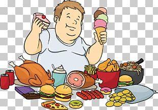 Junk Food Fast Food Hamburger Eating Cartoon PNG