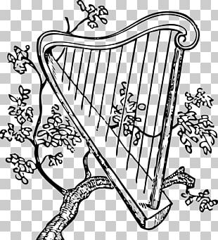 Musical Instruments Harp Drawing String Instruments PNG