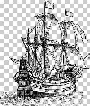Galleon Drawing Sailing Ship PNG