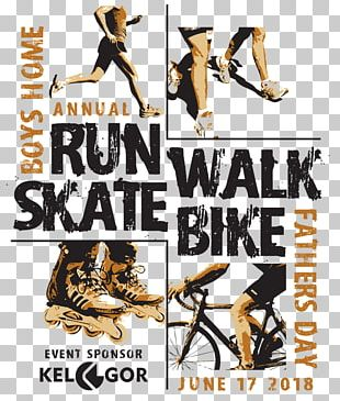 Skatebike Bicycle Fundraising Font Logo PNG