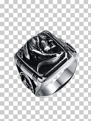 Ring Size Stainless Steel Silver PNG