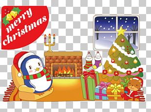 Ebenezer Scrooge Santa Claus Christmas Card Illustration PNG