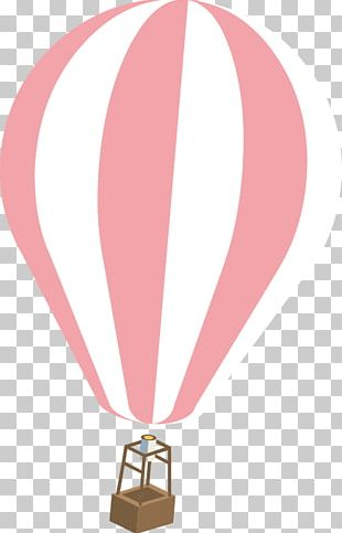 Hot Air Ballooning Pink PNG