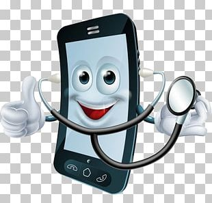 Cartoon Stock Photography Cell Phone Doctor Illustration PNG