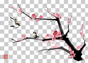 Ink Wash Painting Gongbi Bird-and-flower Painting PNG