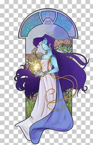 Illustration Woman Fairy Cartoon Purple PNG