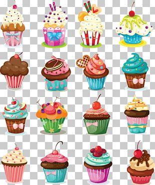 Cupcake Birthday Cake Icing Muffin Cartoon PNG