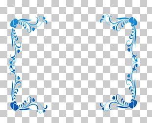 Blue Frame Graphic Design PNG
