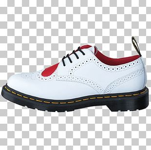 White Shoe Red Dr. Martens Leather PNG