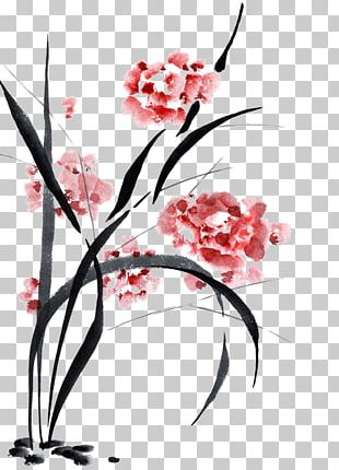 Chinese Painting Ink Wash Painting Chinese Calligraphy Art PNG