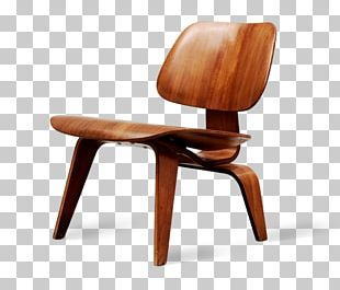Eames Lounge Chair Wood Table Couch PNG