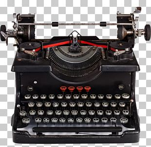 Ruined Typewriter Book Desktop PNG