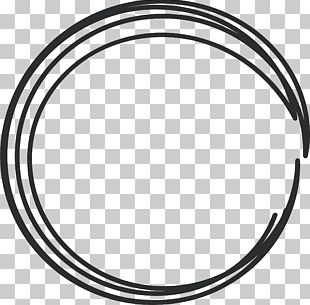 Black And White Circle Rim Area Pattern PNG