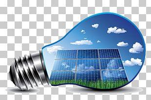 Incandescent Light Bulb Solar Energy Solar Power Solar Panels PNG