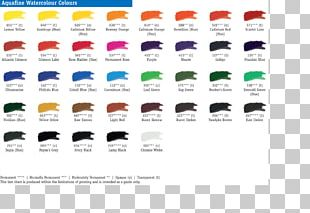 Acrylic Paint Color Chart Watercolor Painting PNG