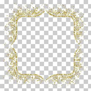 Frame Glitter Gold PNG