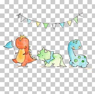 Triceratops Tyrannosaurus Dinosaur Paper Drawing PNG