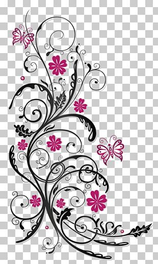 Flower Tendril Pink Stock Photography PNG
