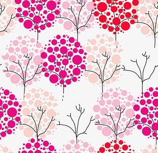 Pink Crown Decoration Pattern PNG