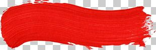 Paintbrush Painting Red PNG