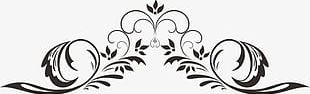 Corner Flower Pattern Lace Material PNG