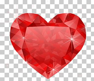 Heart Diamond Red PNG