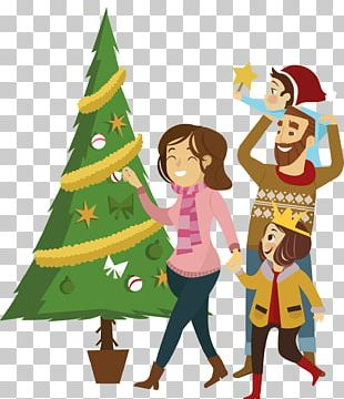 Christmas Tree Family Euclidean PNG