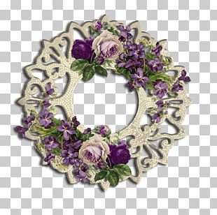 Frames Floral Design Cut Flowers Wreath PNG