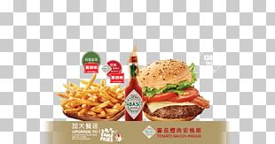 Slider Bacon French Fries Angus Cattle Junk Food PNG