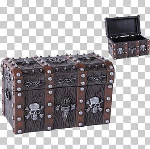 Piracy Box Buried Treasure Skull Resin PNG
