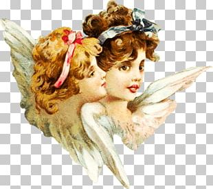 Victorian Smiling Angels PNG
