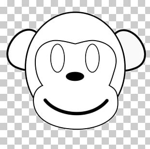 Smiley Snout Black And White PNG