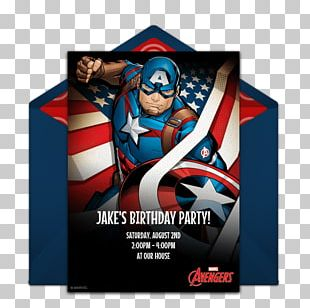 Wedding Invitation Birthday Cake Captain America Party PNG
