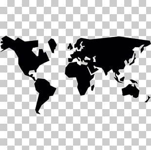 World Map Globe Flat Earth PNG