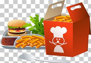 Hamburger Fast Food French Fries Presentation Diagram PNG