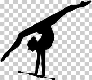 Rhythmic Gymnastics Ribbon Silhouette PNG