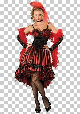 American Frontier Halloween Costume Western Saloon Dress PNG