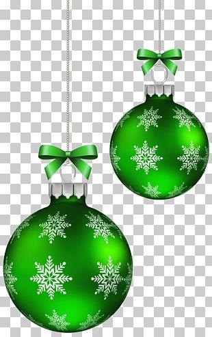 Green Christmas Balls Decoration PNG