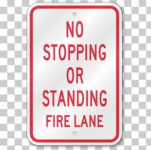 Stop Sign Fire Lane Traffic Sign Car Park PNG