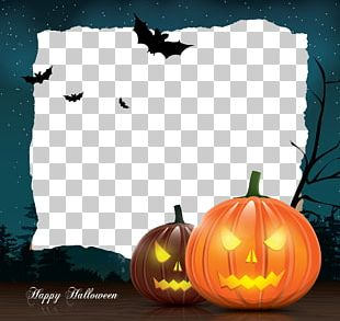 Halloween Template Greeting Card Illustration PNG