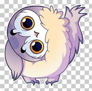 Owl Telegram Sticker Bird Pusheen PNG