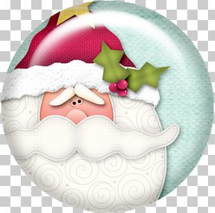 Santa Claus Christmas Ornament Candy Cane PNG