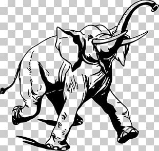 Pack Animal Elephantidae Drawing PNG